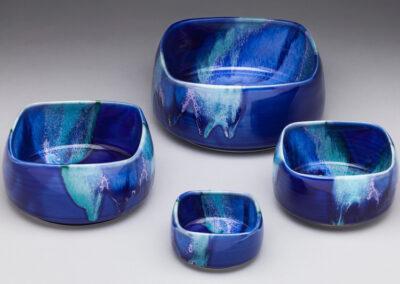 Dark Blue Square Nesting Bowls