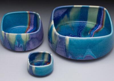 Turquoise Square Nesting Bowls